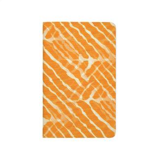 Orange Tiger Stripes Canvas Look Journal