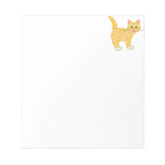 Orange Tiger Tabby Cat Notepad
