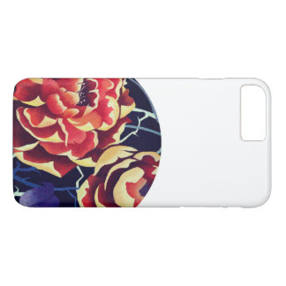 orange to flower iPhone 7 plus case