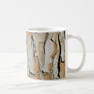 Orange Tone Tree Bark Texture Coffee Mug