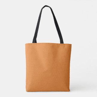 Orange Tote bag with seamless pattern