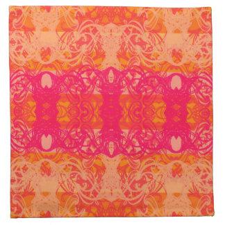 orange towel napkin