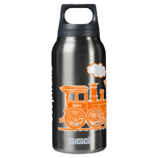 Orange train kids full name drinks bottle