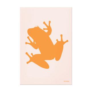 Orange Tree Frog Gallery Wrap Canvas