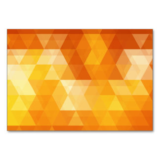 Orange triangle art table cards