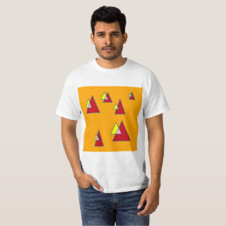 Orange Triangles T-Shirt