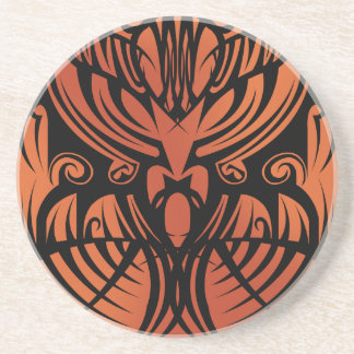 Orange Tribal Coaster