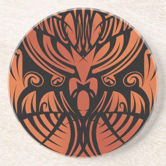 Orange Tribal Coaster