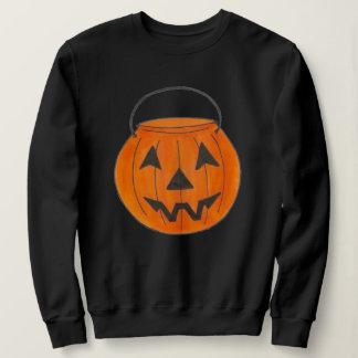 Orange Trick-or-Treat Pumpkin Bucket Halloween Sweatshirt
