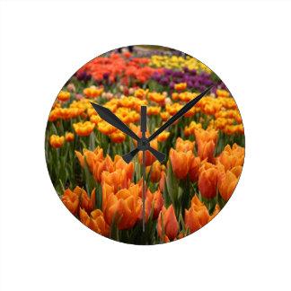 Orange Tulip Clocks