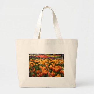 Orange Tulip Large Tote Bag