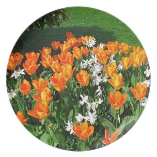 Orange Tulip On Multiple Products Dinner Plate