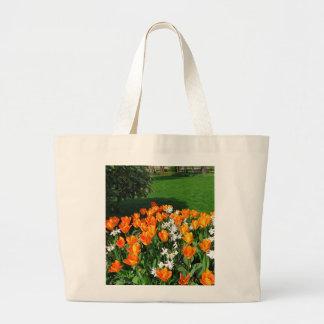 Orange Tulip On Multiple Products Large Tote Bag