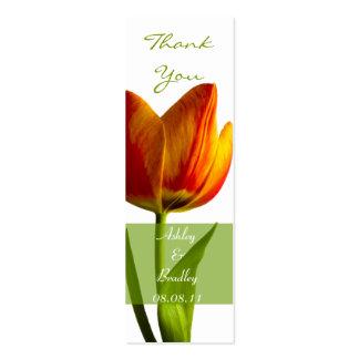 Orange Tulip Wedding Favor Tag Business Card