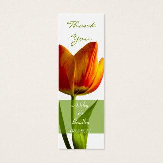 Orange Tulip Wedding Favor Tag Mini Business Card