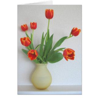 Orange Tulips by Cynthia Wenslow Card
