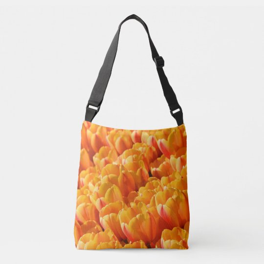 Orange Tulips Cross Body Bag