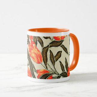 """Orange Tulips"" Muslin Mug"