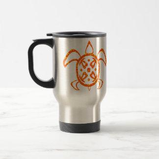 Orange Turtle Travel Mugs