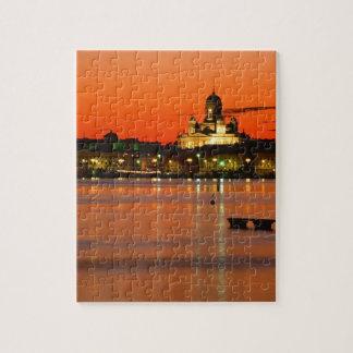 Orange Twilight, Helsinki, Finland Jigsaw Puzzle