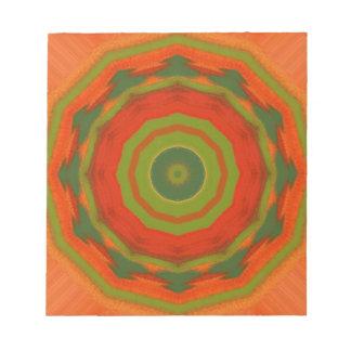 Orange Twirl Notepad