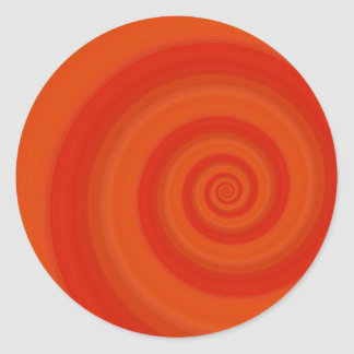 Orange Twist Classic Round Sticker