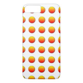 Orange Two Polka Dots iPhone 7 Plus Case