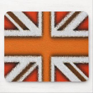 Orange Union Jack Mouse Pad
