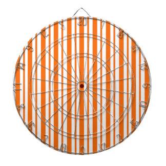 Orange Vertical Pinstripe Dartboard