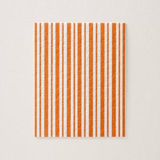 Orange Vertical Pinstripe Jigsaw Puzzle