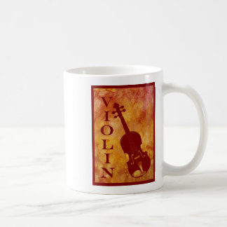 Orange Violin Coffee Mug