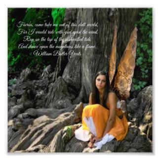 Orange Water Fairy William Butler Yeats Quote Photograph