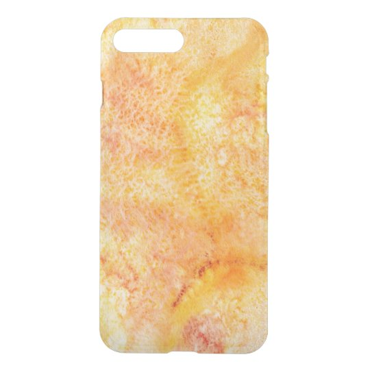 Orange Watercolor Background iPhone 7 Plus Case
