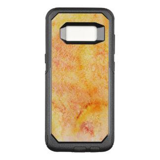 Orange Watercolor Background OtterBox Commuter Samsung Galaxy S8 Case
