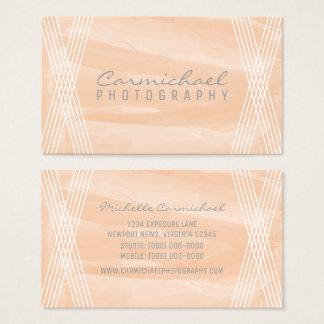 Orange Watercolor Deco Business Card