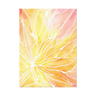 Orange Watercolour Marble Break Canvas