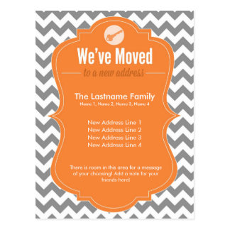 Orange We ve Moved Change of Address Postcards