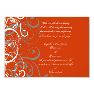 Orange wedding invitation