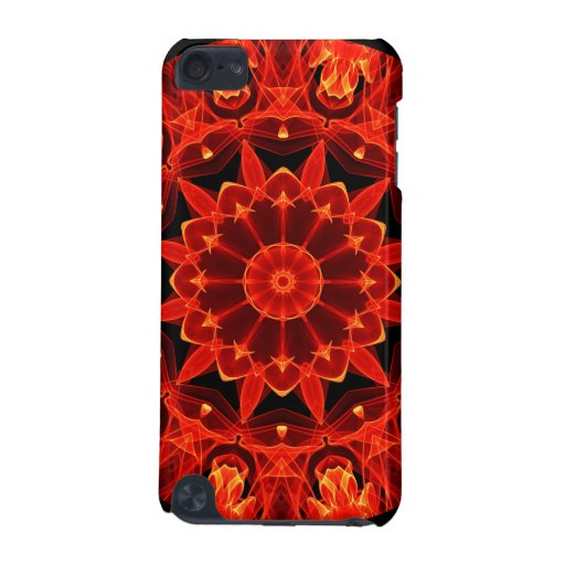 Orange Wheel of Fire Mandala, Abstract Lace iPod Touch 5G Case