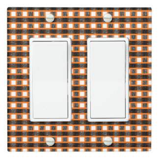 Orange, White and Black Static Weave Light Switch Cover