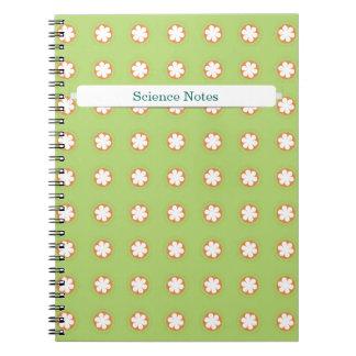 Orange & White Apple Blossoms Spiral Note Book