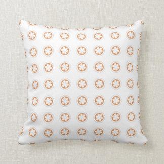 Orange & White Apple Blossoms Throw Pillows