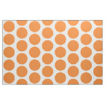 Orange White Big Polka Dots Fabric