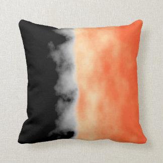 Orange White Black Druzy Geode Slice look Throw Pillows