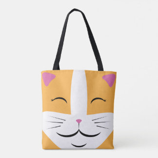 Orange & White Cat Tote