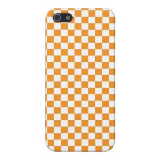 Orange & White Checkerboard iPhone 5 Cover