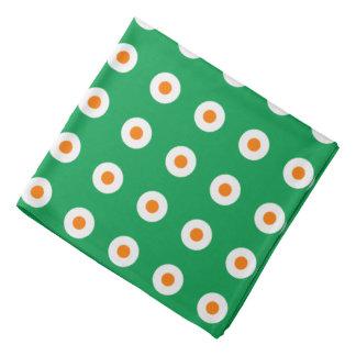 Orange/White Dots on Green Bandana