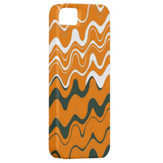 Orange White Grey Sea Wavy Stripes Pattern iPhone 5 Covers