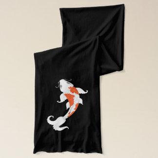 Orange & White Koi Fish - Scarf