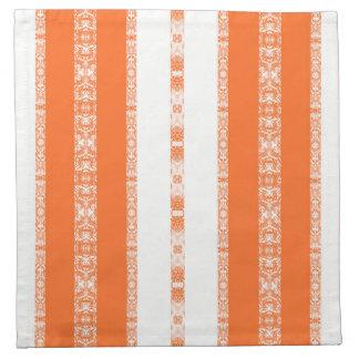 orange white napkin
